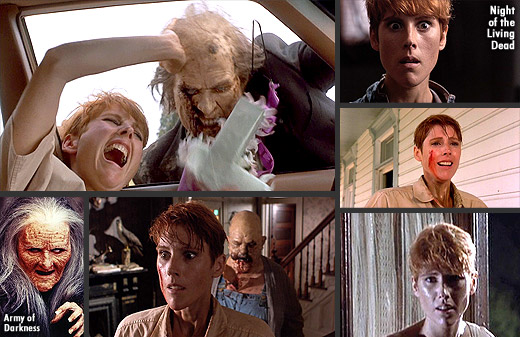 Patricia Tallman in Night of the Living Dead (1990) and Army of Darkness (1992)