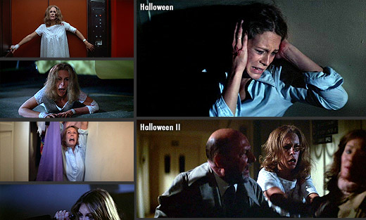 Jamie Lee Curtis in Halloween (1978) and Halloween II (1981)